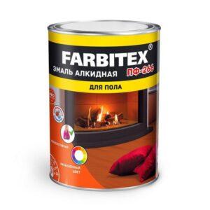 Эмаль ПФ-266 золотистая алкидная 0.8 кг FARBITEX 1/14 5987