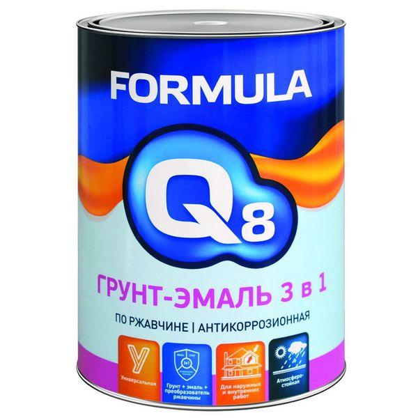 Грунт-Эмаль по ржавчине 10 кг. коричневая FORMULA Q8 полуматовая ПРЕСТИЖ
