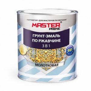 Грунт-эмаль по ржавчине 3 в 1 MASTER PRIME молотковая серый 0.9 кг. 1/14 5031