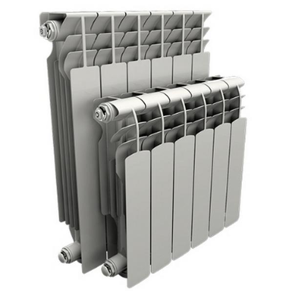 Радиатор AQS 350 мм алюминий 8 секций