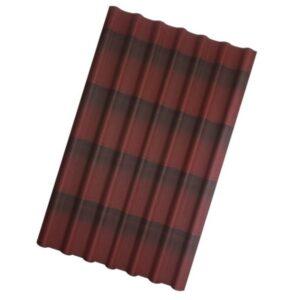 Ондулин Черепица Красный 1950x960x3 мм.