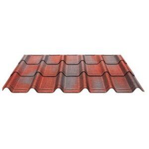 Черепица Ондувилла Красный 3D 106x40 см.
