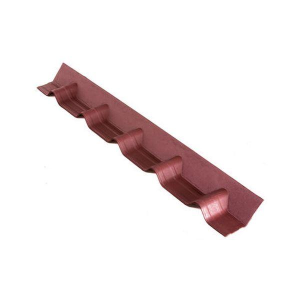 Конек основание покрывающий фартук Красный 3D 102х14 см.