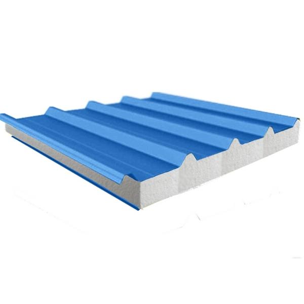 Панель кровельная ПТ-К (пенополистирол, марка плотность – 8 кг/м3)  ширина 1200 мм., длина панели 0,5-12 м, толщина 80 мм.