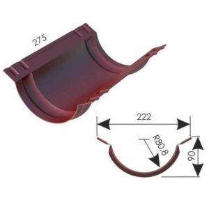 Ендова полукруглая 220x90 мм. Дамир RAL