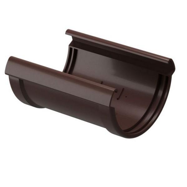 Водосточная система Docke LUX Соединитель желобов Шоколад