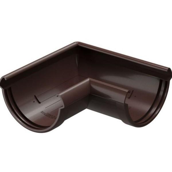 Водосточная система Docke LUX Угловой элемент 90° Шоколад
