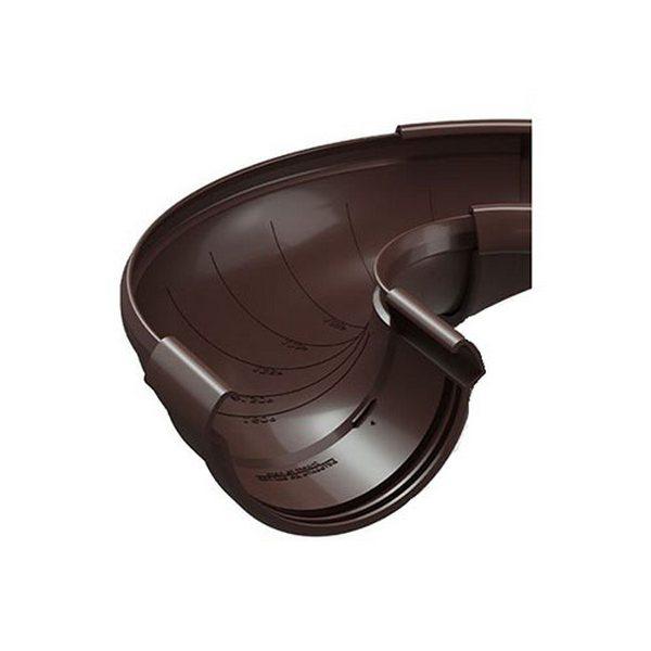 Водосточная система Docke LUX Угол регулируемый 60°-160° Шоколад