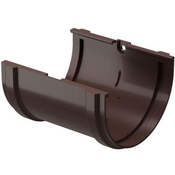 Водосточная система Docke PREMIUM Соединитель желобов Шоколад
