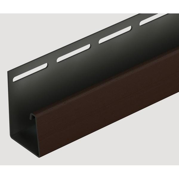 Фасадный J-профиль Docke 3050 мм. Шоколадный