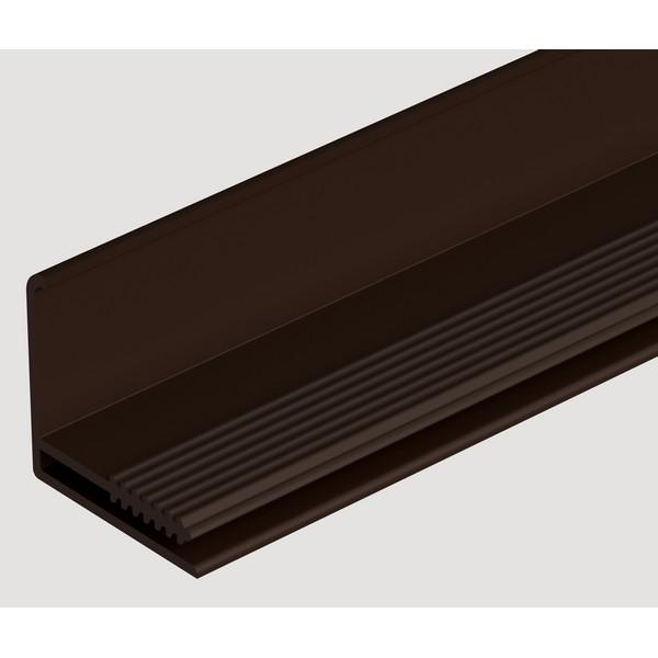 Фасадный L-профиль Docke 3050 мм. Шоколадный