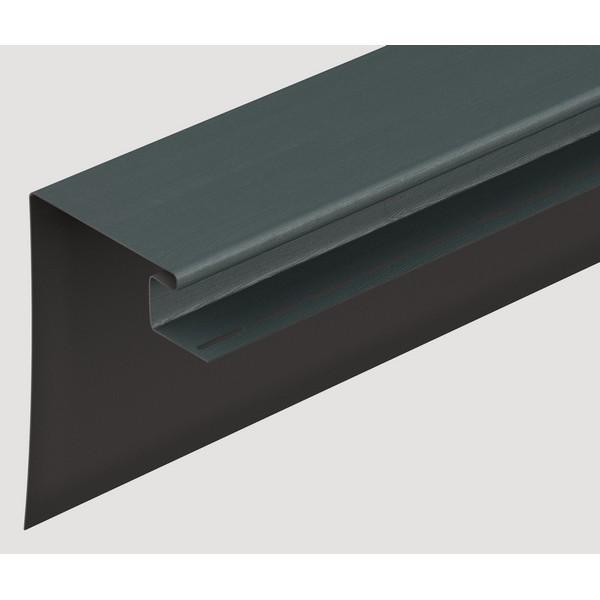 Фасадный околооконный профиль Docke графитовый 3680х230 мм.