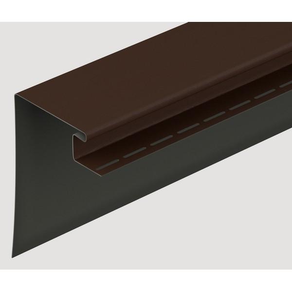 Фасадный околооконный профиль Docke шоколадный 3680х230 мм.