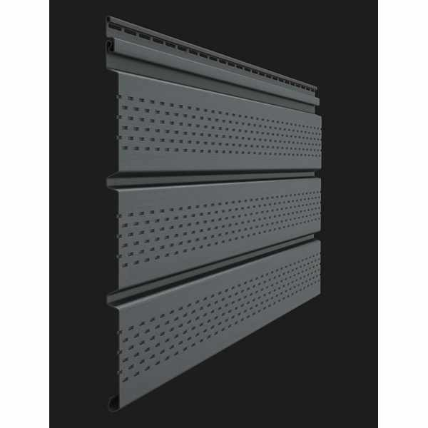 Софит перфорированный Docke PREMIUM 3000х305 мм. 0.92м2 Графит