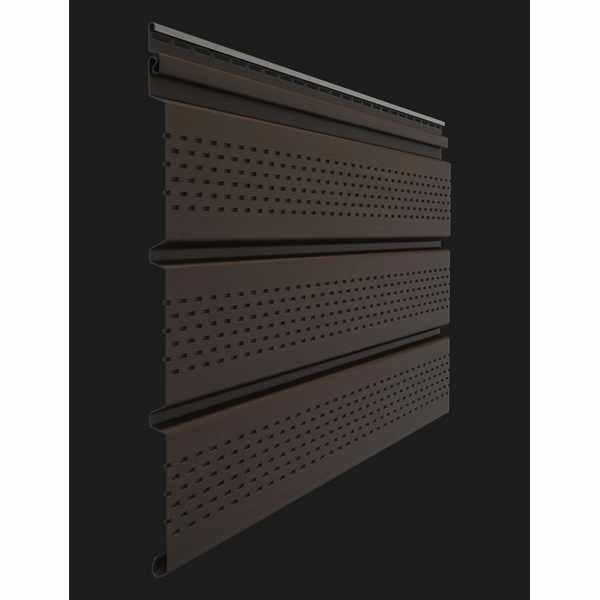Софит перфорированный Docke PREMIUM 3000х305 мм. 0.92м2 Шоколад