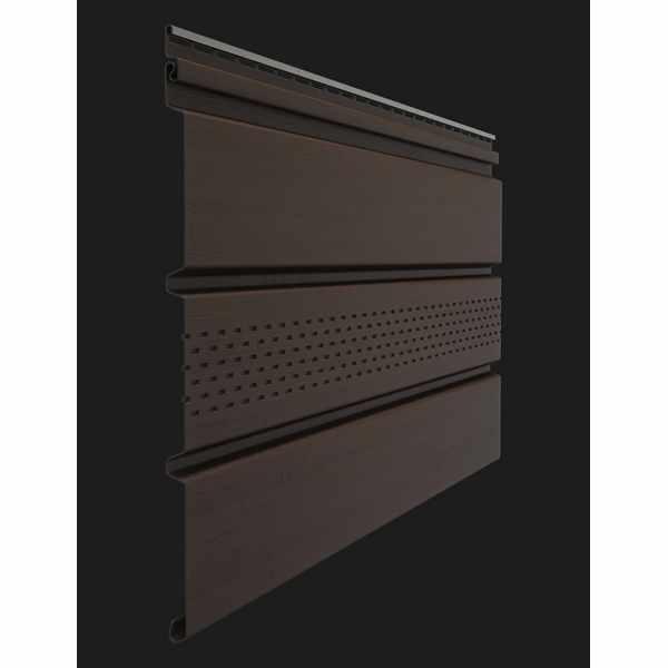 Софит с центральной перфорацией Docke PREMIUM 3000х305 мм. 0.92м2 Шоколад