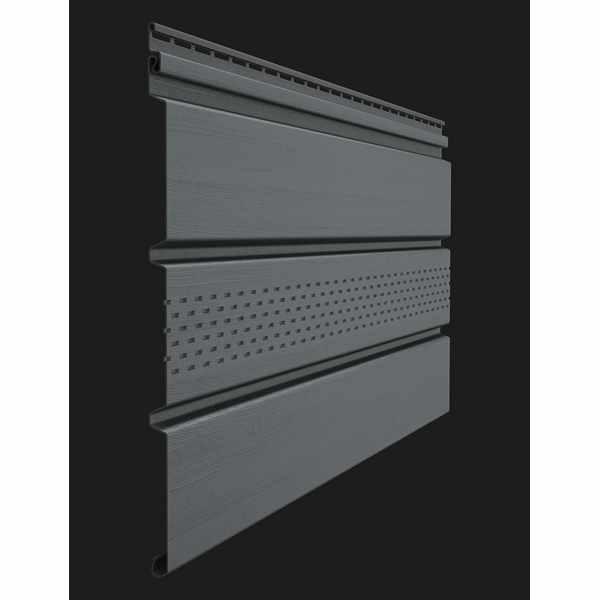 Софит с центральной перфорацией Docke PREMIUM 3000х305 мм. 0.92м2 Графит