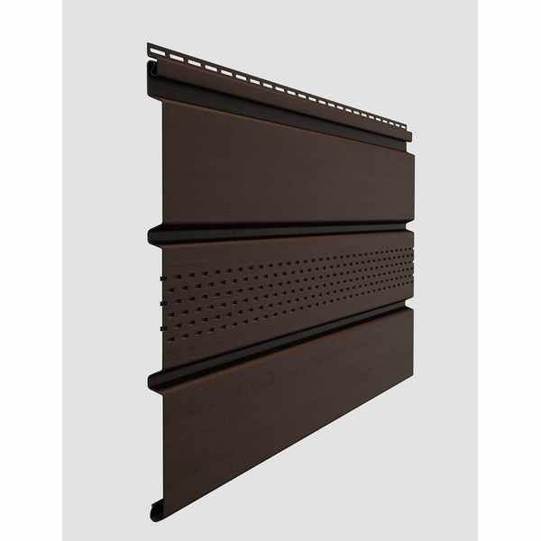 Софит с центральной перфорацией Docke STANDARD  3000х305 мм. 0.92м2 Шоколад