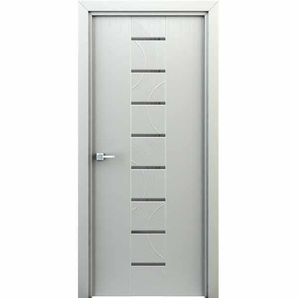Дверь межкомнатная Сатурн Белый, с декоративными элементами, 80 см.