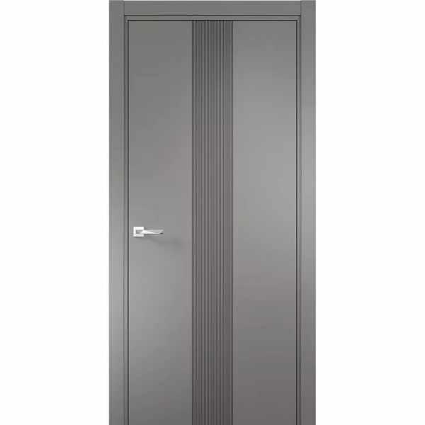 Дверь межкомнатная Севилья-16 Софт графит, глухое, 80 см.