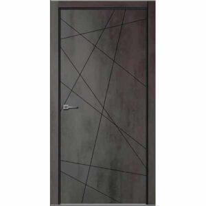 Дверь межкомнатная Севилья-26 Бетон темный, глухое, 60 см.