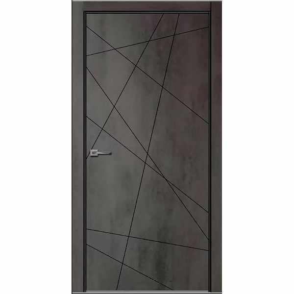 Дверь межкомнатная Севилья-26 Бетон темный, глухое, 80 см.