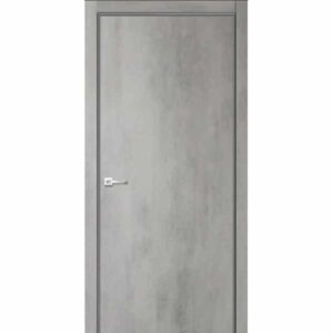 Дверь межкомнатная Севилья-32 Бетон светлый, глухое, 60 см.