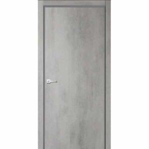 Дверь межкомнатная Севилья-32 Бетон светлый, глухое, 80 см.