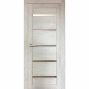 Дверь межкомнатная Бавария-15 Дуб шале капучино, остекленное, 60 см.