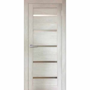 Дверь межкомнатная Бавария-15 Дуб шале капучино, остекленное, 80 см.