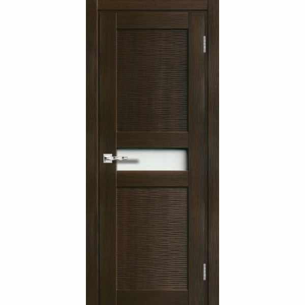 Дверь межкомнатная Палермо 011 экошпон Венге, остекленное, 80 см. (-)