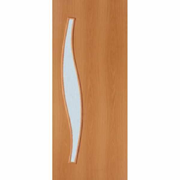 Дверь межкомнатная С-10 Миланский орех, остекленное, 60 см.