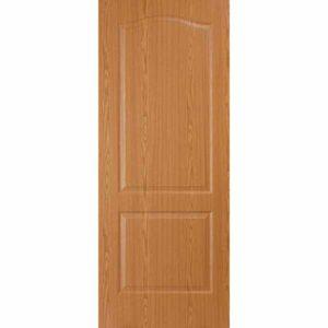 Дверь межкомнатная Палитра дуб светлый, глухое, 80 см.