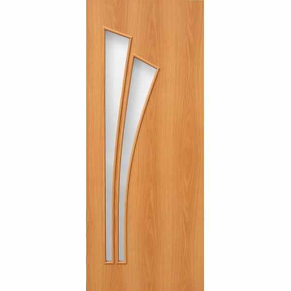 Дверь межкомнатная С-7 Миланский орех, остекленное, 60 см.