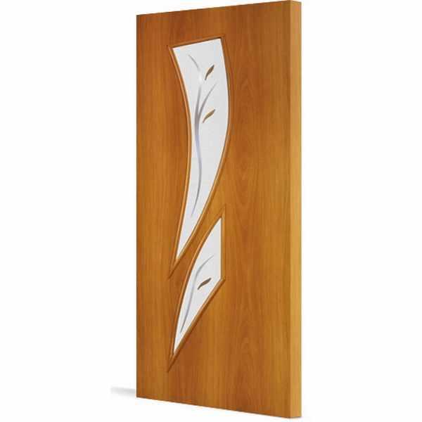 Дверь межкомнатная С-2 Миланский орех, остекл. фьюзинг, 60 см.
