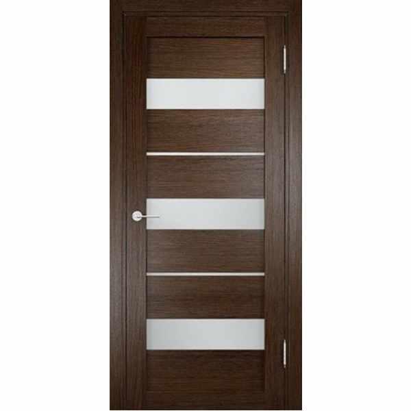 Дверь межкомнатная Мюнхен 02 Дуб табак, остекленное, 70 см.