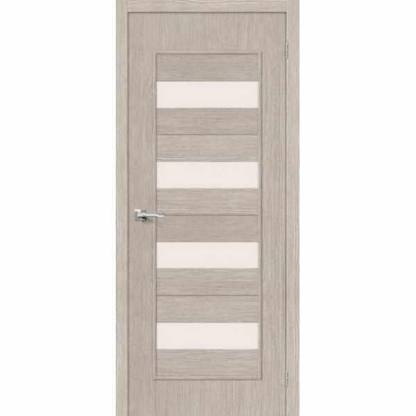 Дверь межкомнатная Тренд-23 Капучино, остекленное, 60 см.