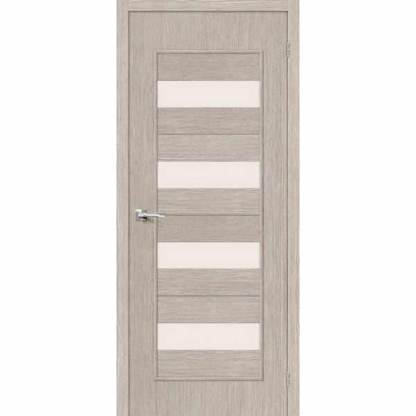 Дверь межкомнатная Тренд-23 Капучино, остекленное, 80 см.