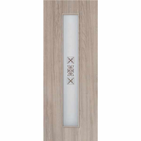 Дверь межкомнатная Luxury 315 Капучино, остекленное - с элементами художественного матирования, 60 см.