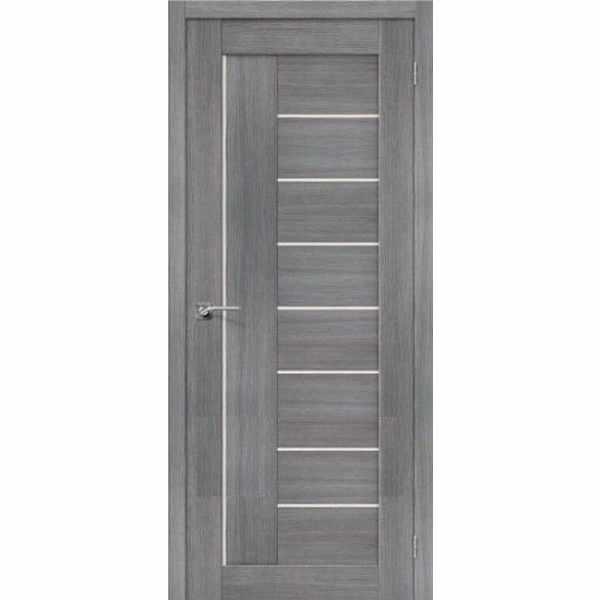 Дверь межкомнатная Порта-29 Грей, остекленное, 70 см.
