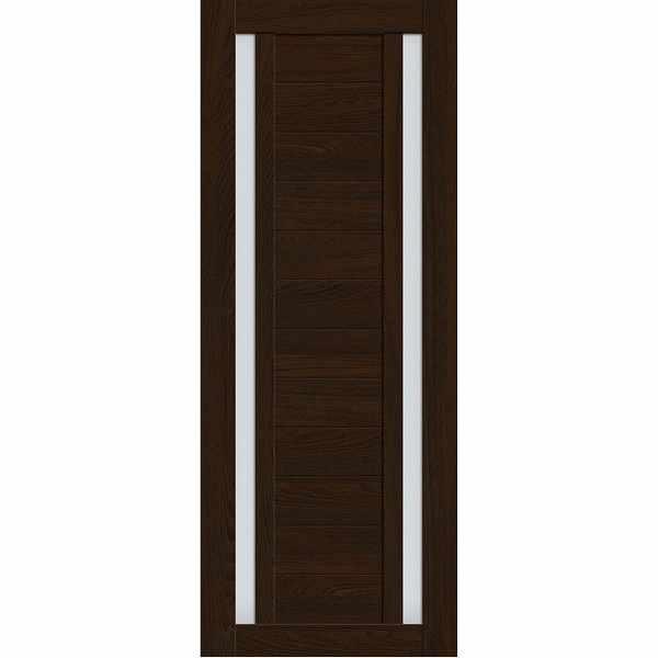 Дверь межкомнатная Luxury 513 Бренди, остекленное - матовое белое, 60 см.