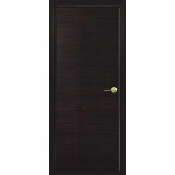 Дверь межкомнатная Венге, глухое гладкое, 80 см.