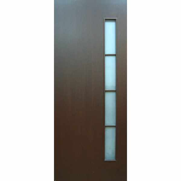 Дверь межкомнатная С-14 Венге, остекленное, 80 см.