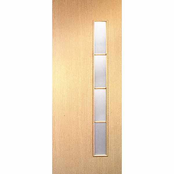 Дверь межкомнатная С-14 Беленый дуб, остекленное, 60 см.