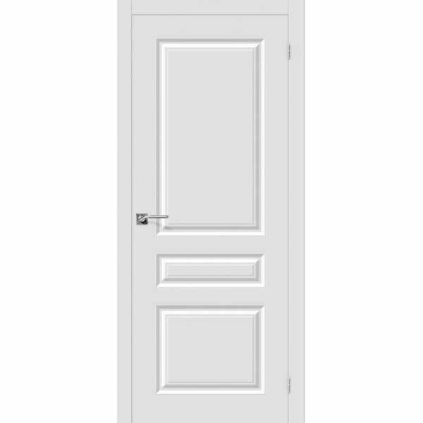 Дверь межкомнатная Скинни-14 эмаль Whitey, глухое, 80 см.