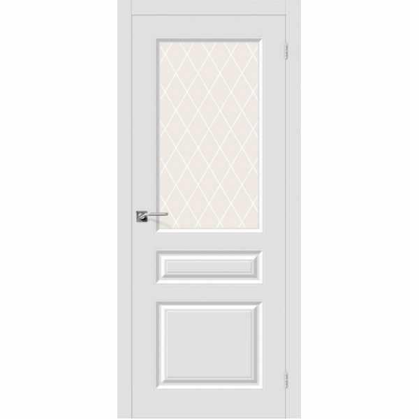 Дверь межкомнатная Скинни-15.1 эмаль Whitey, остекленное, 60