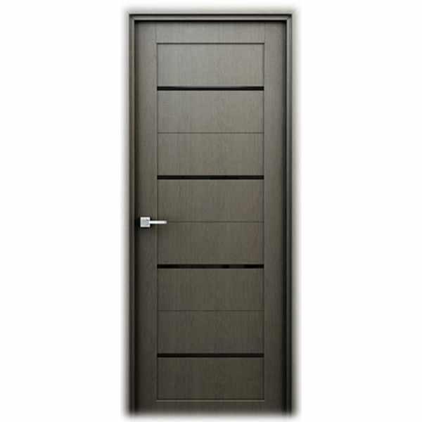 Дверь межкомнатная Орион Серый, с декоративными элементами, 80 см.