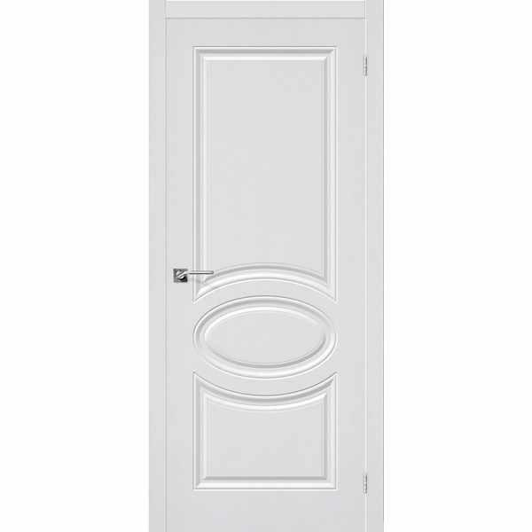 Дверь межкомнатная Скинни-20 пленка ПВХ Белая, глухое, 60 см.