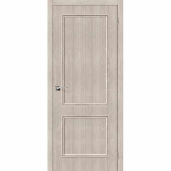 Дверь межкомнатная Симпл-12 экошпон Капучино вералинга, глухое, 80 см.