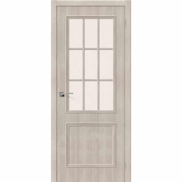 Дверь межкомнатная Симпл-13 экошпон Капучино вералинга, остекленное, 80 см.